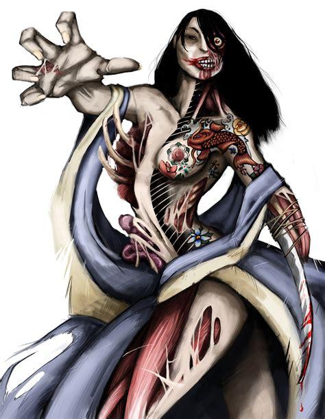 yakuza tattoo deviantart yakuza zombie by eleonorabertolucci on deviantart