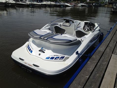 sea doo jet boat hp seadoo speedster 200 370 hp supercharged blue boat for
