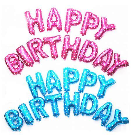 Balon Huruf Foil Hbd Happy Birthday balon foil huruf warna warni 40 cm anugerah utama