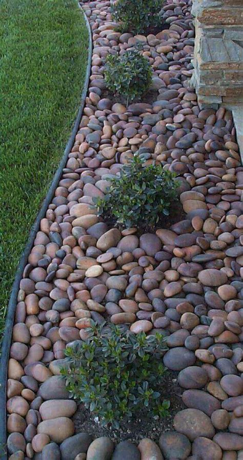 river rock garden bed 25 best ideas about garden edging on flower bed edging cheap b b and flat deck ideas