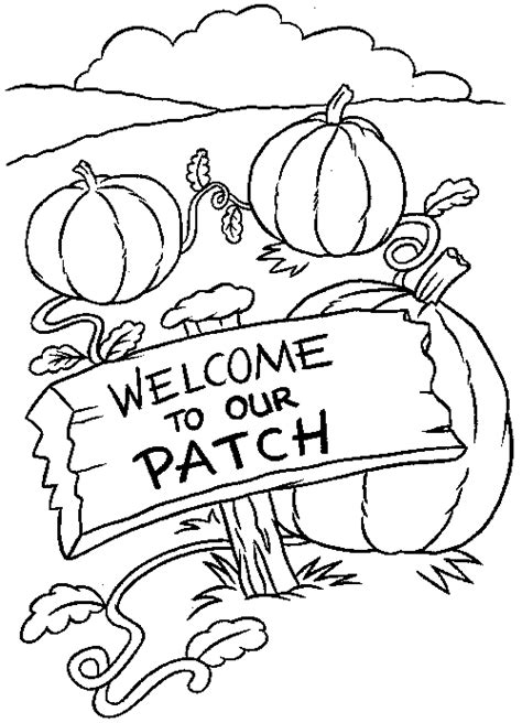 Transmissionpress Pumpkin Patch Coloring Page Pumpkin Patch Coloring Page