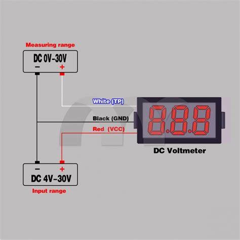 Voltmeter Digital Mini 0 56 mini dc 0v 30v voltmeter blue led display volt meter
