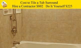 cost to tile a tub surround