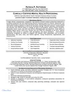 Mental Health Counselor Sle Resume by Resume Sles Highlights Of Qualifications Bestsellerbookdb