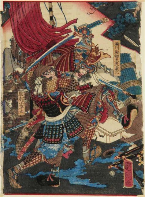 War Rugs For Sale Japanese Triptych Of Samurai In Battle