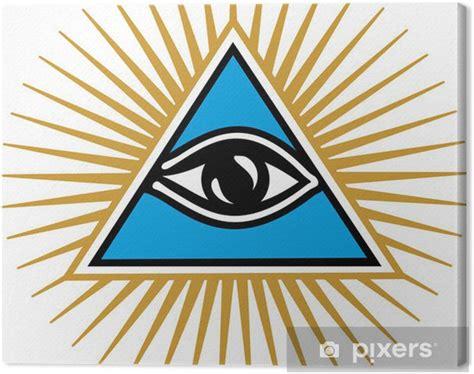illuminati segni quadro su tela all seeing eye di dio simbolo della