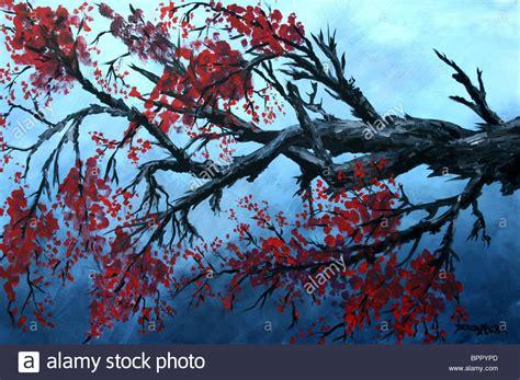 cherry tree yearbook abstrakte malerei japanische kirschbl 252 te 214 l und acryl landschaft moderne kunst auf leinwand
