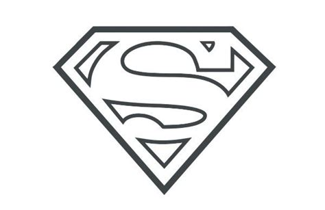 supergirl emblem template superman symbol outline search clip and