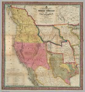 map from texas to california a new map of texas oregon and california with the regions adjoining mitchell samuel augustus