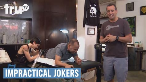 impractical jokers tattoo impractical jokers three jokers get inked