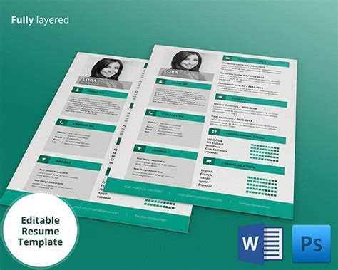 resume template psd file psd resume template 51 free sles exles format