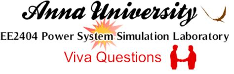 design lab vtu viva questions ee2404 power system simulation lab viva questions anna