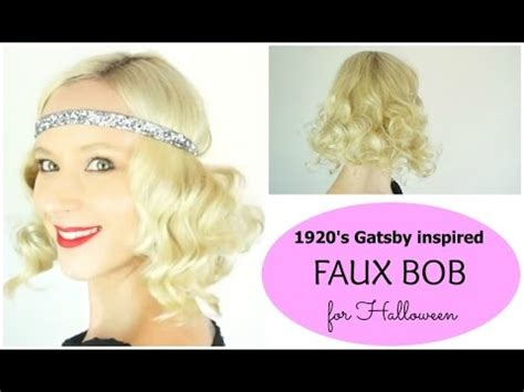 great gatsby faux bob 1920s inspired hair youtube faux bob gatsby 1920 s inspired halloween hairstyles