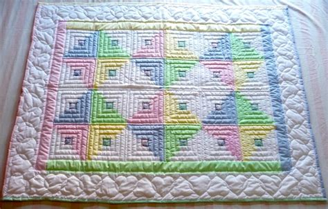 Log Cabin Baby Quilt by Handmade Amish Infant Quilts And Baby Blankets
