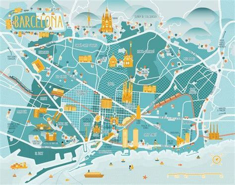 printable map barcelona city centre 23 best modern map design images on pinterest map design