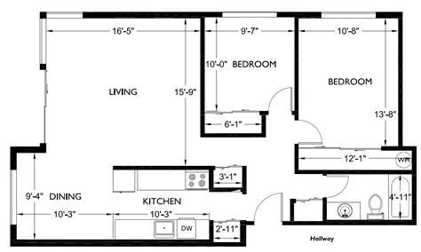 floor plans 2 bedroom two bedroom house floor plans home design