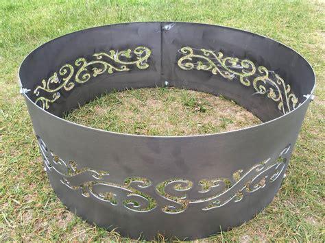 Steel Firepit Ring Metal Pit Ring Swirls