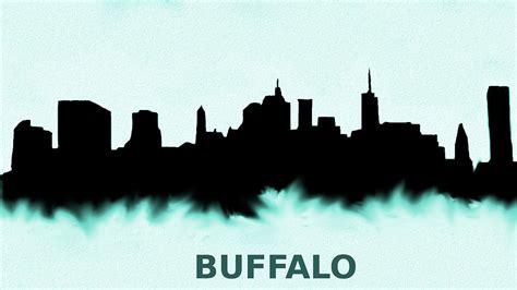 Phone Lookup Buffalo Ny Buffalo New York Skyline Blue Painting By Enki