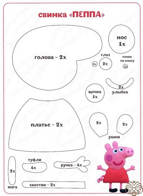 Peppa Pig De Feltro Rukodelion Moldes Pinterest Pig Party Felting And Birthdays Peppa Pig Template