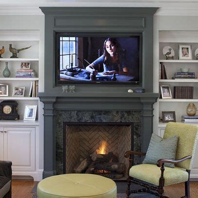 houzz fireplace ideas framed tv above fireplace houzz home ideas pinterest