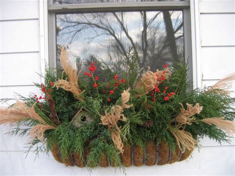winter window boxes winter window box ideas for my home