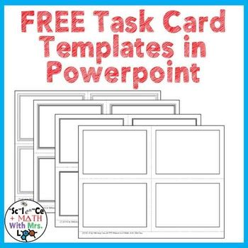 how to make task card templates free task card templates in powerpoint by science with mrs