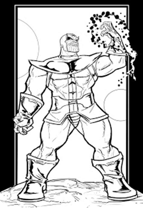 marvel thanos coloring pages how to draw thanos