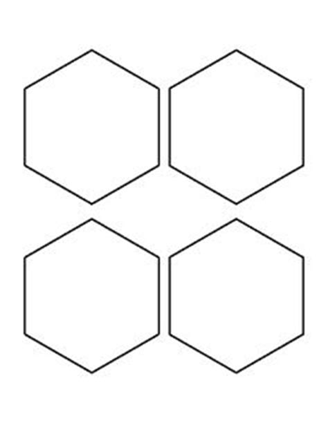 4 inch hexagon template printable 8 inch hexagon pattern use the printable outline for