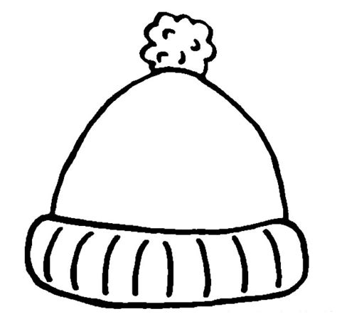 winter hat template simple winter hat coloring pages coloring sun