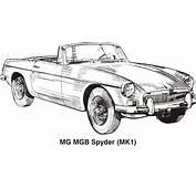 Clipart  MG MGB MK1 Year 1962