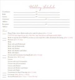 Schedule Timeline Template by Sle Wedding Timeline Template 10 Free Documents In