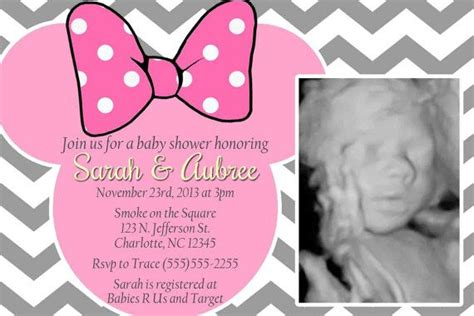 Minnie Mouse Baby Shower Invites by The World S Catalog Of Ideas