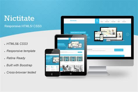 html5 card template nictitate responsive html5 website templates on