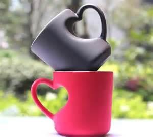 Heart Shaped Mugs That Fit Together Heart Shaped Handle Coffee Mug