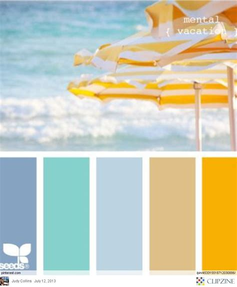 beach color ocean beach umbrellas color palette for the home