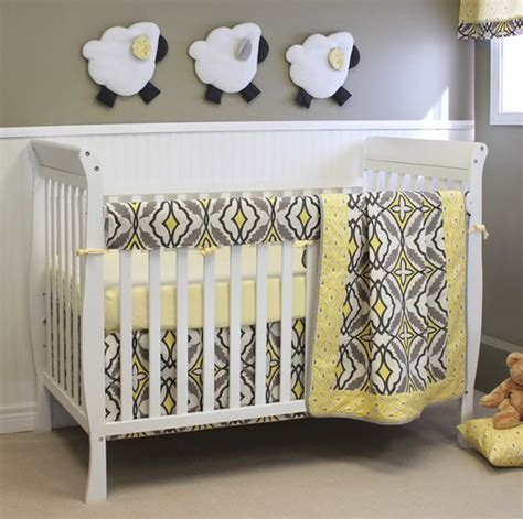 Sweet Whimsical Yet Modern Baby Crib Bedding With Matching Crib And Bedding