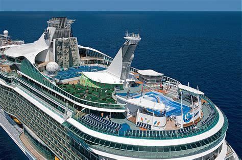 royal caribbeans newest ship royal caribbean cruise ship receiving water slides laser