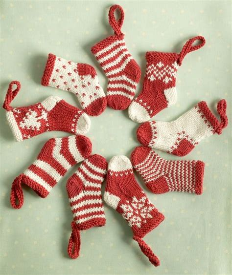 knitting pattern for christmas stocking ornament free knitting patterns knitted mini christmas stockings