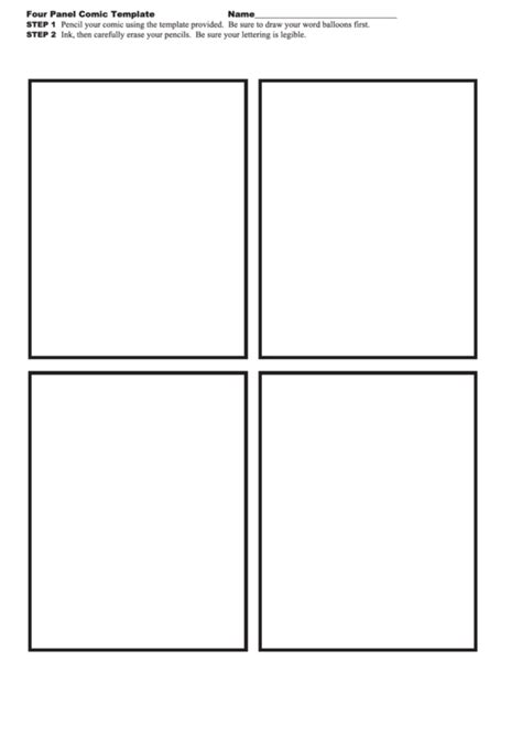 four panel comic template top 4 panel comic templates free to in pdf