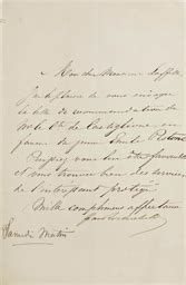 Lettre De Recommandation Quand L Envoyer Rothschild Baron Gustave De 1829 1911 Lettre Sign 233 E 224 M Laffitte S L Quot Samedi Matin Quot Quot J