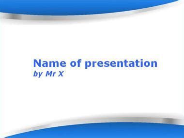 the twin blades blue version powerpoint template