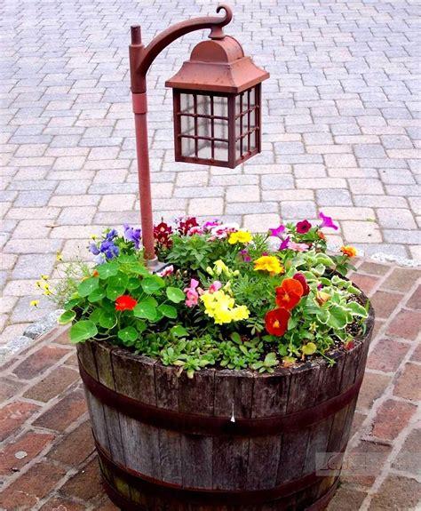 38 Best Reusing Old Wine Barrel Ideas And Designs For 2017 Wine Barrel Planter Ideas