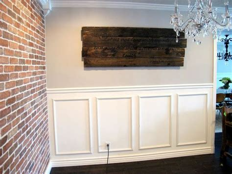 how to hang chair rail 25 best ideas about installing wainscoting on