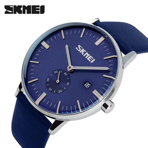 Jam Analog Skmei skmei jam tangan analog pria 9083cl blue jakartanotebook