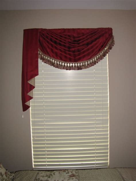 diy swag curtains this easy to sew swag and jabot adds a touch of elegance