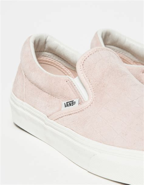Slip On Pink vans classic slip on iced pink croc in pink lyst