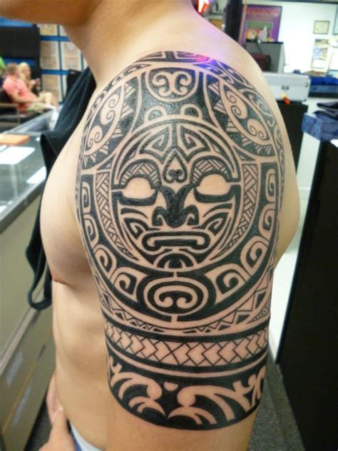 hawaiian tribal tattoos sleeves polynesian half sleeve by lucky at charlies