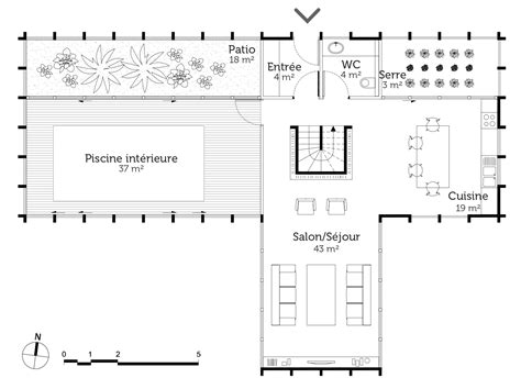 plan d une avec piscine interieure maison moderne