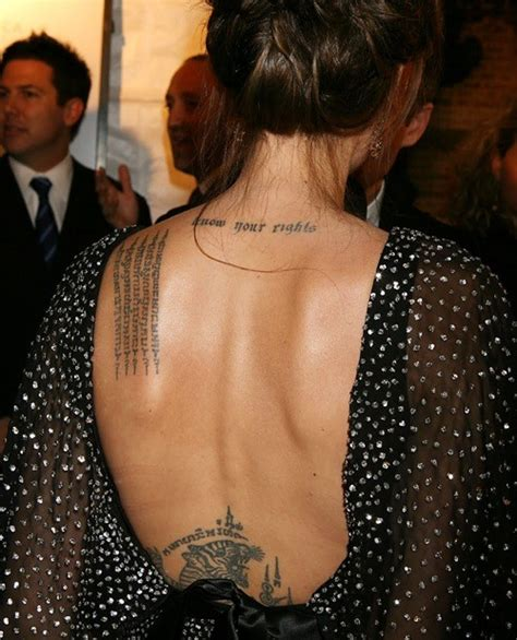 angelina jolie tattoo type angelina jolie s tattoos body art or self mutilation