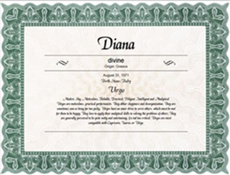naming certificates free templates free printable name meaning certificates go